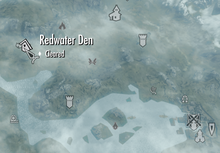 Redwater Den on map