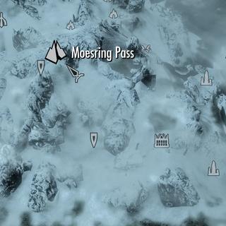 Проход Моэсринг на карте Солстейма