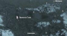 Башня Баннермиста на карте