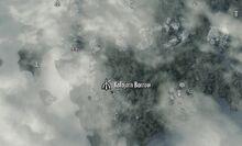 Курган Калбьорн на карте