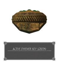 Двемерский Ключ Активации (Зеленый)