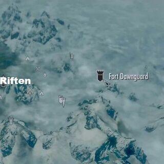 Форт Стражи Рассвета на карте мира