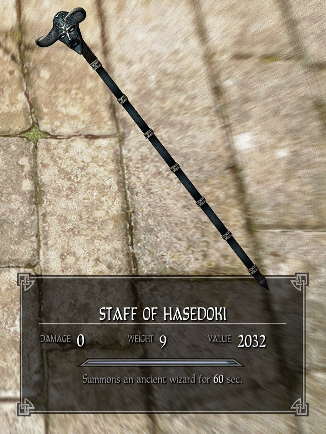 Staff of Hasedoki   Legacy of the Dragonborn   FANDOM powered by Wikia