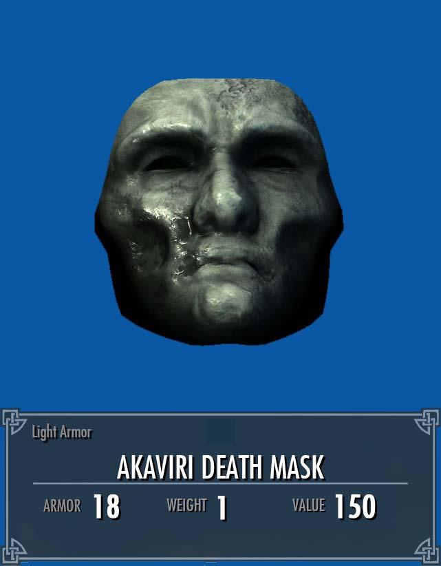 Akaviri Death Mask Legacy Of The Dragonborn Fandom Powered By Wikia