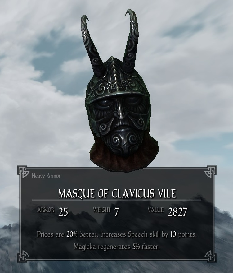 Masque Of Clavicus Vile Legacy Of The Dragonborn