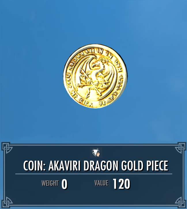 Akaviri Dragon Gold Piece Legacy Of The Dragonborn Fandom