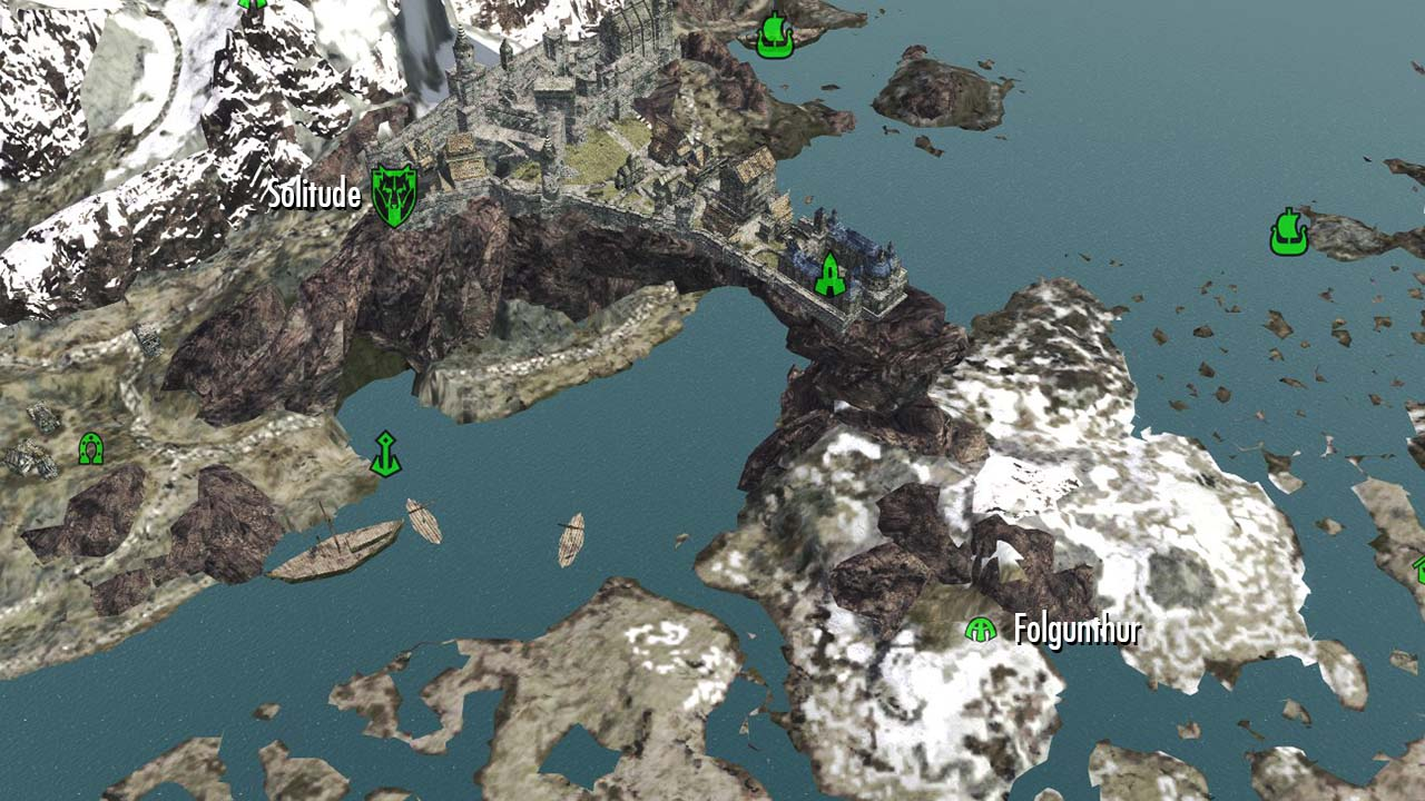 Image Folgunthur On Map Jpg Legacy Of The Dragonborn