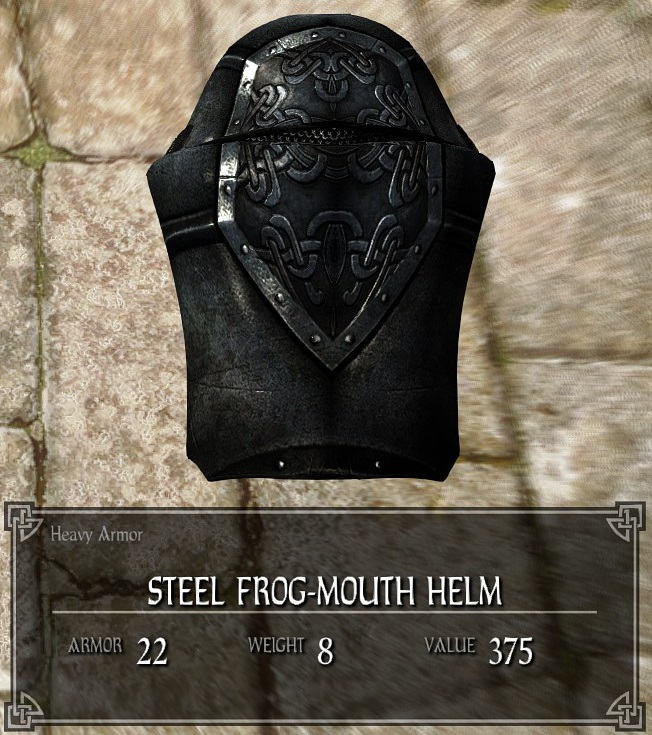 Steel Frog-mouth Helm | Legacy of the Dragonborn | FANDOM
