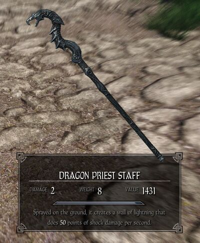 Dragon Priest Staff (Wall of Lightning)