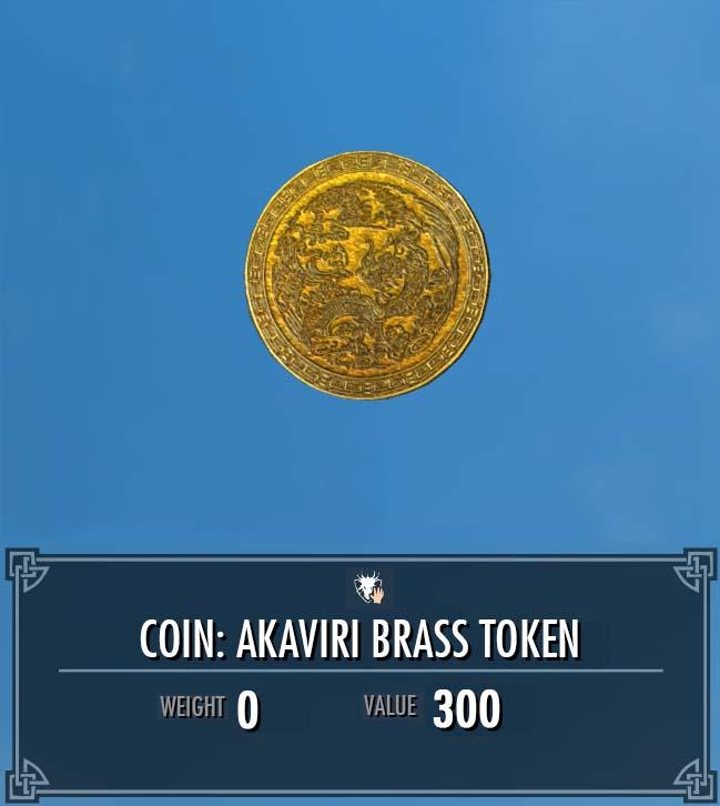 Akaviri Brass Token Legacy Of The Dragonborn Fandom Powered By Wikia
