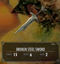 Broken s sword