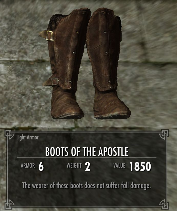 Boots of the Apostle   Legacy of the Dragonborn   FANDOM