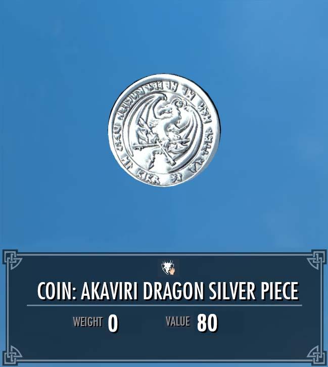 Akaviri Dragon Silver Piece Legacy Of The Dragonborn Fandom