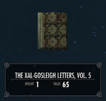 TheXalGosleighLettersVol5
