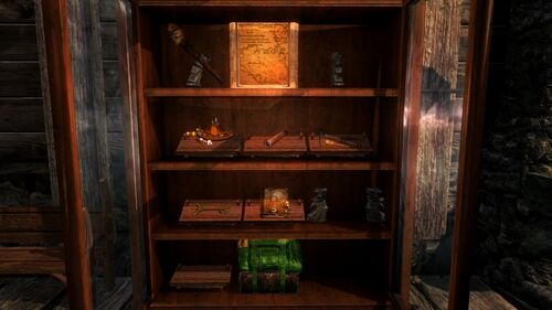 Guild house trophy cabinet