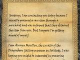 Letter from Auryen Morellus