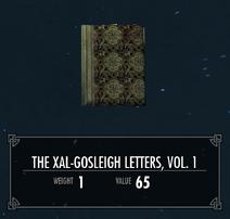 TheXalGosleighLettersVol1