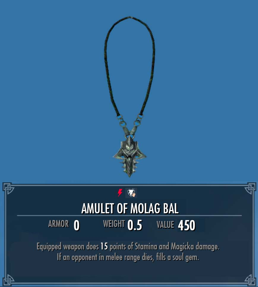 Amulet of Molag Bal | Legacy of the Dragonborn | FANDOM powered by Wikia