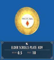 Elder Scrolls Plate K09