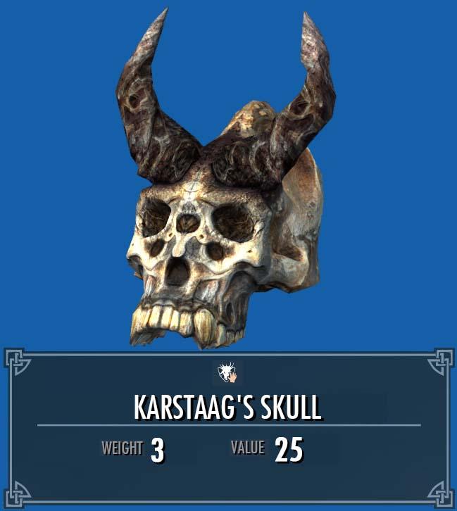 Karstaag's Skull   Legacy of the Dragonborn   FANDOM powered