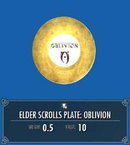 Elder Scrolls Plate Oblivion