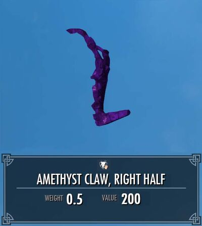Amethyst Claw, Right Half