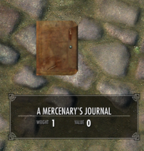 A Mercenary's Journal