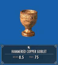 Hammered Copper Goblet SSE