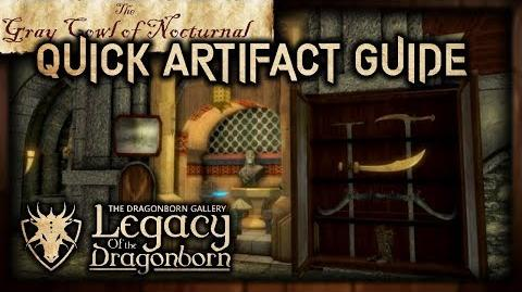 "(LOTD) Full Artifact Display Guide! - ""The Gray Cowl of Nocturnal"" - Skyrim SE (Legacy)"