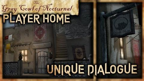 """Black Mesa Inn"" Dialogue and ""Ben Erai"" Player Home! - ""Gray Cowl of Nocturnal"" - Skyrim SE"