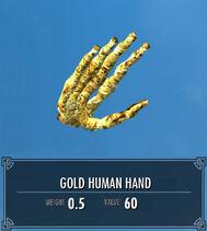Gold Human Hand SSE