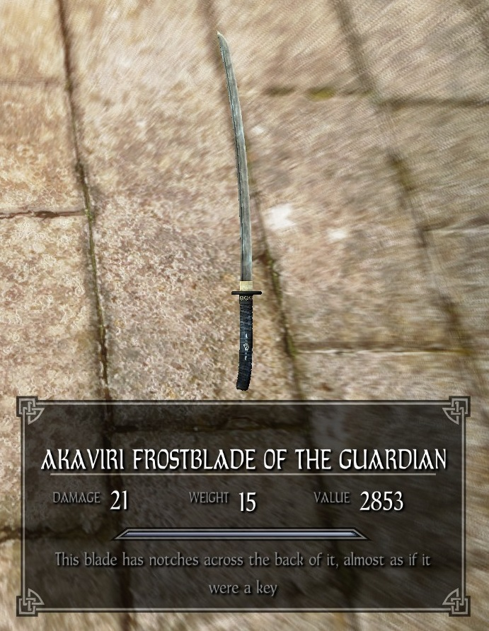 Akaviri Frostblade Of The Guardian Legacy Of The Dragonborn