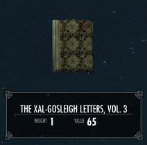 TheXalGosleighLettersVol3