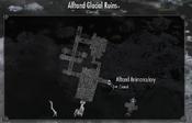 Alftand glacial ruins map
