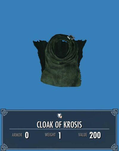 Cloak of krosis