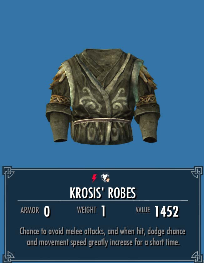 Krosis' Robes   Legacy of the Dragonborn   FANDOM powered by Wikia