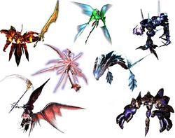 Ra-seru true forms