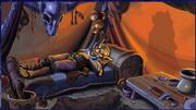 Shaman sleeping