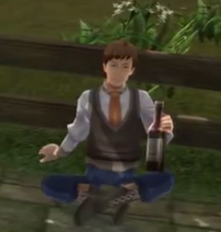 Johnson drinking in Celdic