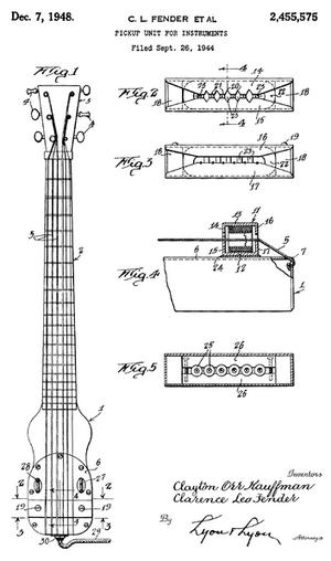 Fender Guitar Sketch