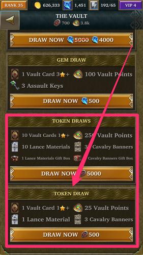 Vault Draws