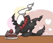 Darkrai cake