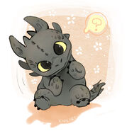 A baby night fury by kadeart0-d3bbz3f