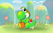 Cute Yoshi by nin10do gamer