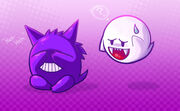 Ghosties boo and gengar by michelle4645-d4976ws