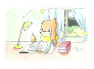 Busy buizel by buizelcream-d3at7h5