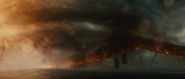 GKOTM Trailer 1 - Rodan flies just above the water 2