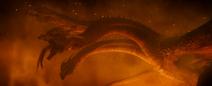 GKOTM - King Ghidorah freakishly long tongue 04