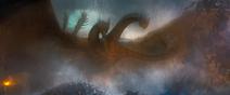 GKOTM - King Ghidorah flying down 12