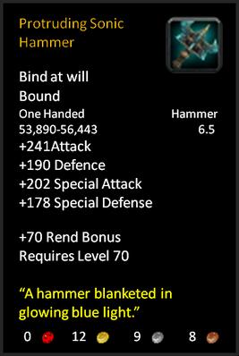 Protruding War Hammer